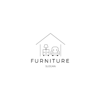 Modèle de logo d'identité corporative de meubles minimalistes