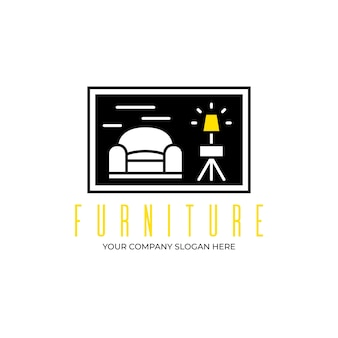 Modèle de logo d'identité d'entreprise de meubles modernes