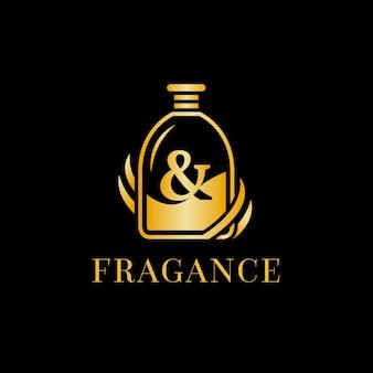 Modèle de logo d'identité de potion de parfum puissant