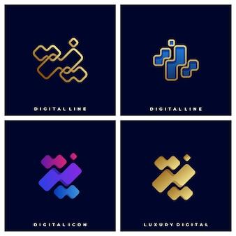 Modèle de logo illustration boîte abstraite