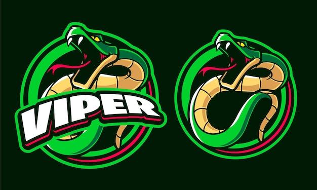 Modèle De Logo D'illustration Viper Vecteur Premium