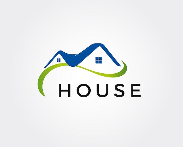 Modèle de logo immobilier, appartement, condo, maison, location, entreprise. marque, branding, logotype, entreprise, corporate, identité. design de style épuré, moderne et élégant