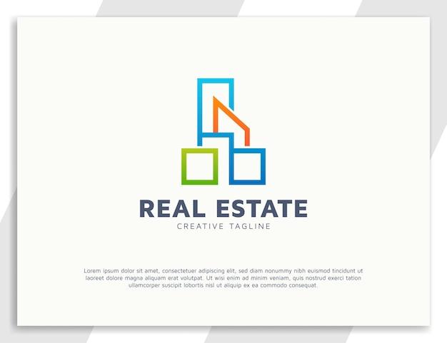 Modèle de logo immobilier de construction