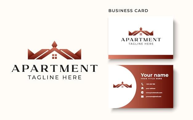 Modèle de logo immobilier isolé sur fond blanc. illustration vectorielle