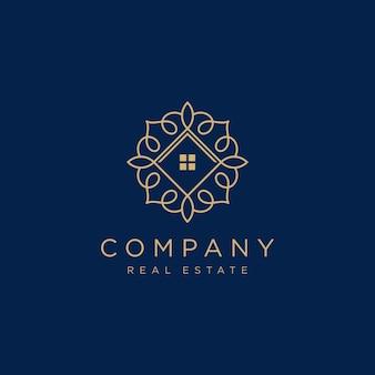 Modèle de logo immobilier de luxe