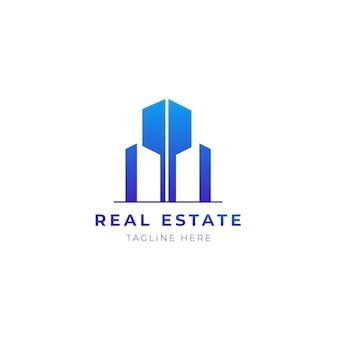 Modèle de logo immobilier. maison élégante et moderne bulding logo design vecteur