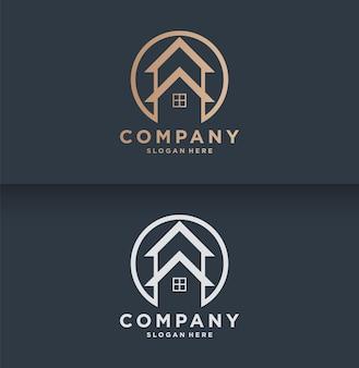 Modèle de logo immobilier minimal
