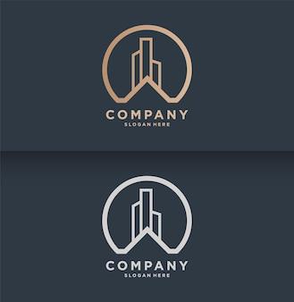 Modèle de logo immobilier moderne