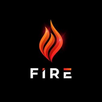 Modèle de logo d'incendie