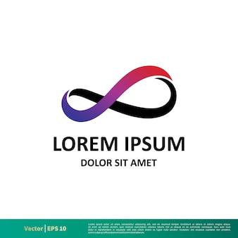 Modèle de logo infinity