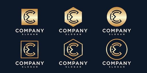Modèle de logo initiales lettre c