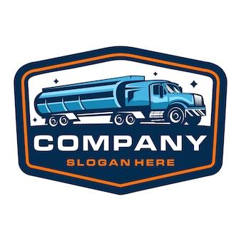 Modèle de logo d'insigne d'entreprise de camionnage