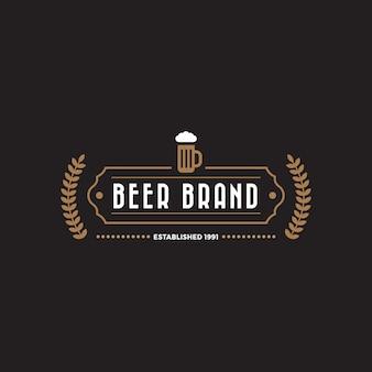 Modèle de logo d'insigne d'étiquette vintage