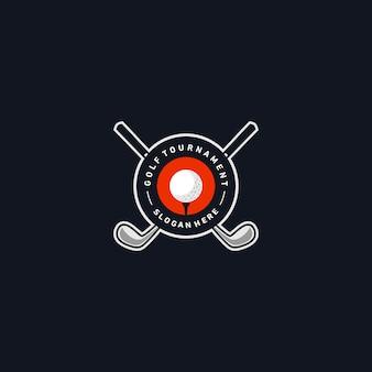 Modèle de logo insigne de golf
