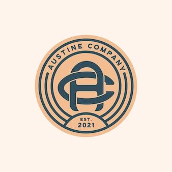 Modèle de logo insigne monogramme ac