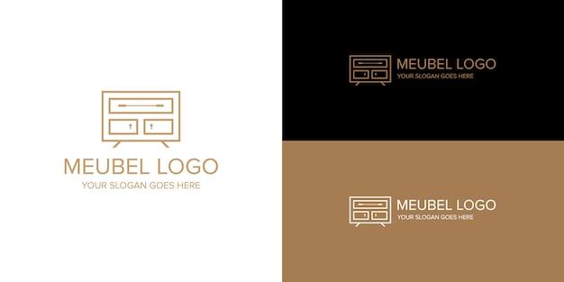 Modèle de logo intérieur meuble meubel