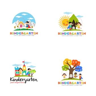 Modèle de logo de jardin d'enfants