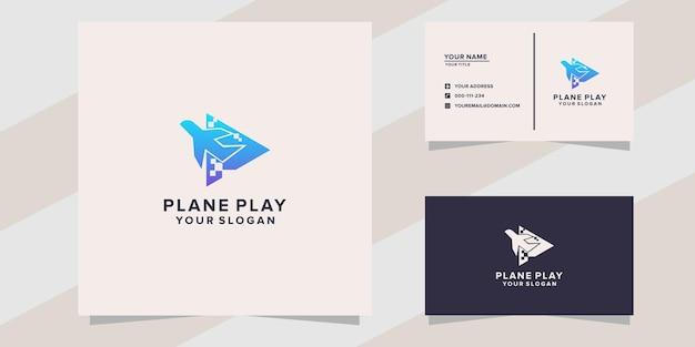 Modèle de logo de jeu d'avion