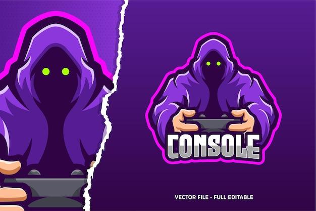 Modèle de logo de jeu demon esports
