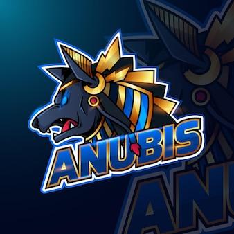 Modèle de logo de jeu esport détaillé