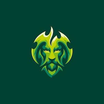 Modèle de logo de jeu de lion