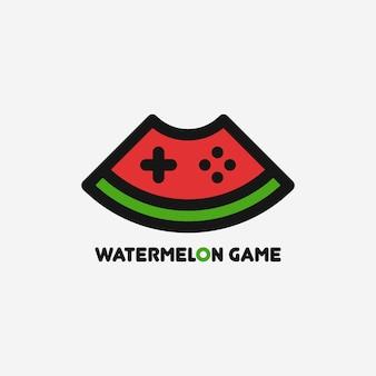 Modèle de logo de jeu de pastèque