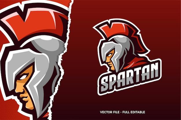 Modèle de logo de jeu spartan esports