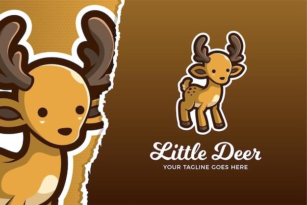 Modèle de logo de jeu de sport électronique little deer