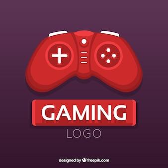 Modèle de logo de jeu vidéo avec joystick
