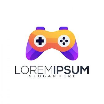 Modèle de logo de jeu vidéo