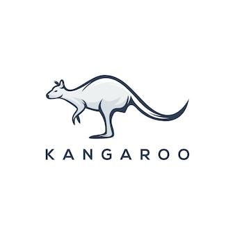 Modèle de logo kangourou