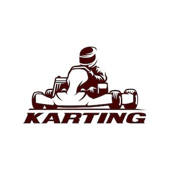 Modèle de logo de karting