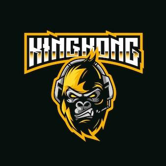 Modèle de logo kingkong