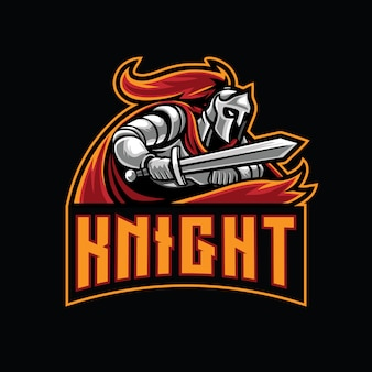 Modèle de logo knight esport