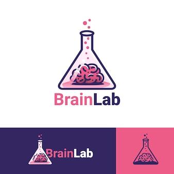 Modèle de logo de laboratoire de cerveau