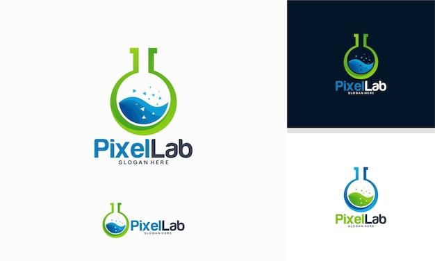 Modèle de logo de laboratoire scientifique