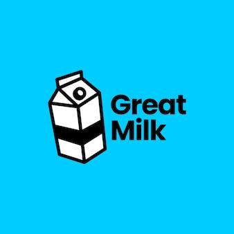 Modèle de logo de lait