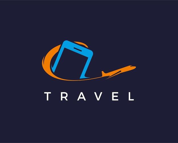 Modèle de logo de lancement de téléphone