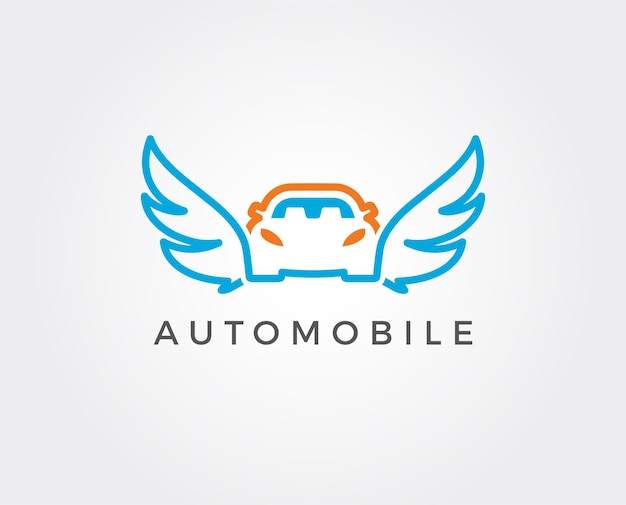 Modèle de logo de lavage de voiture de vecteur