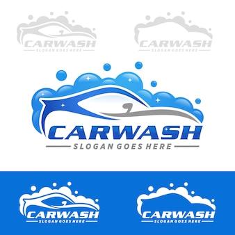 Modèle de logo de lavage de voiture