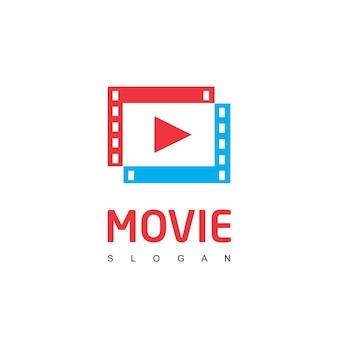 Modèle de logo de lecteur de film