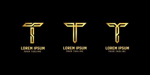 Modèle de logo lettert t