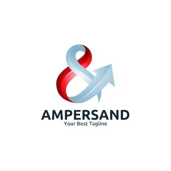 Modèle de logo de lettre d'ampersand