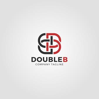 Modèle de logo lettre b en miroir