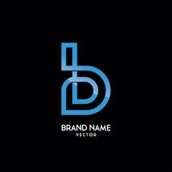 Modèle de logo lettre b