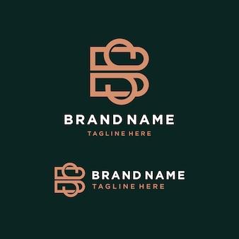 Modèle de logo lettre bs