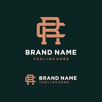 Modèle de logo lettre cr