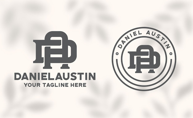 Modèle de logo lettre da monogramme