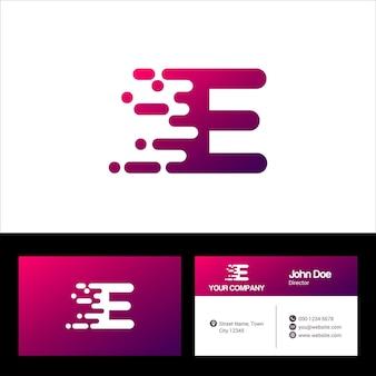 Modèle de logo lettre e, conception d'illustration de modèle de vecteur de carte de visite