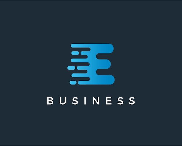 Modèle de logo lettre e minimal